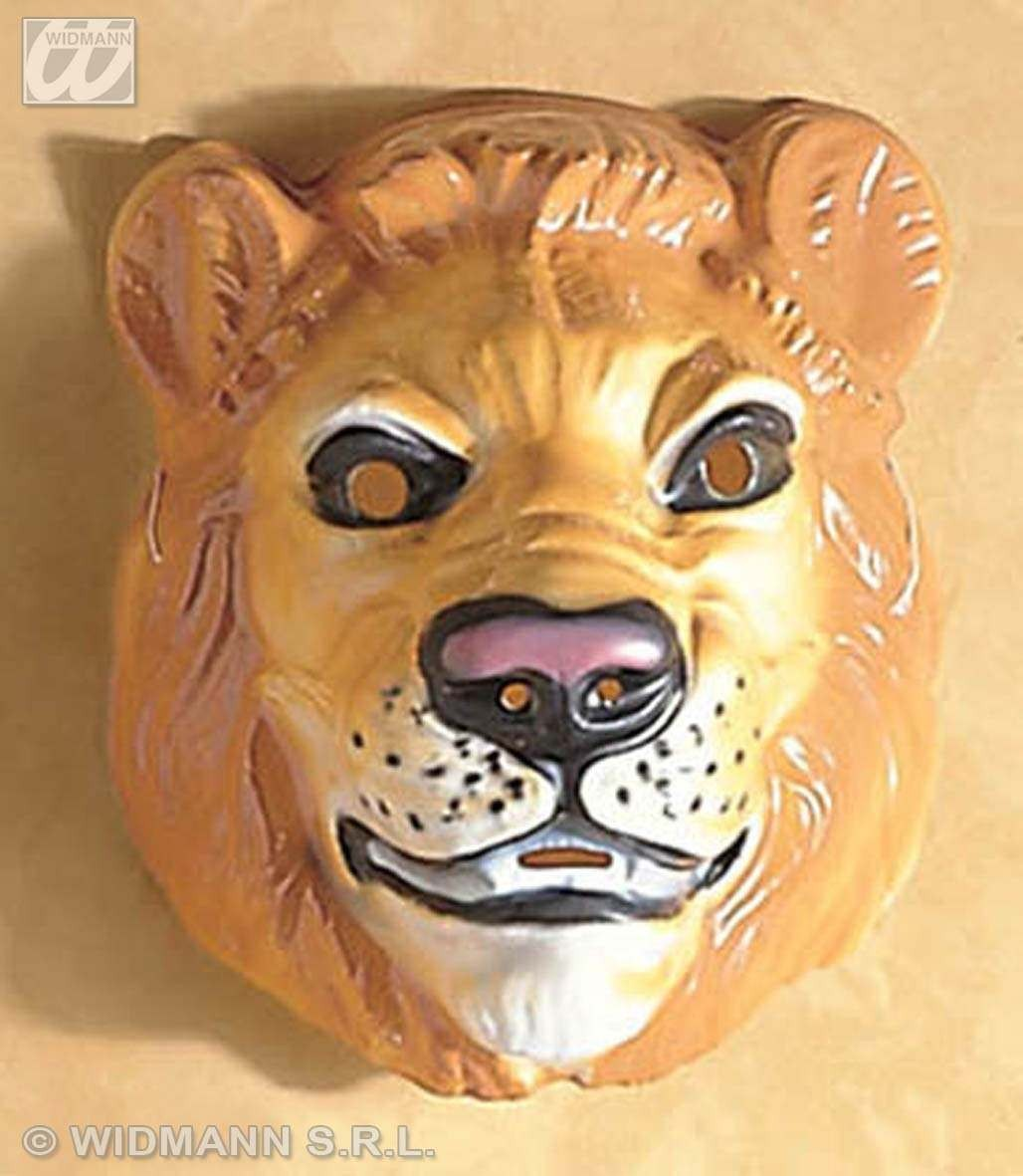 Plastic Lion Masks - Fancy Dress (Animals)