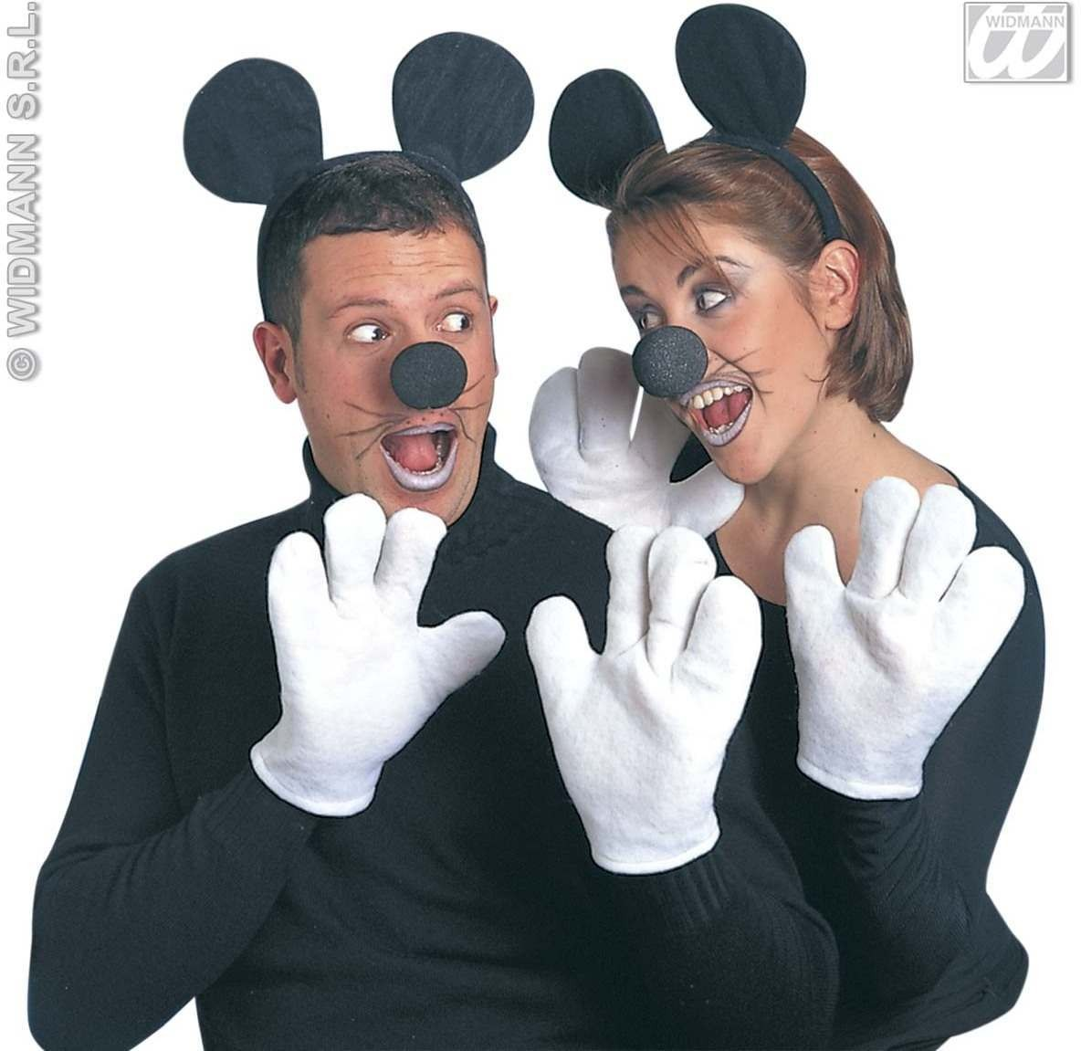 Mouse Set Ears Gloves Nose Unisex - Fancy Dress (Animals)