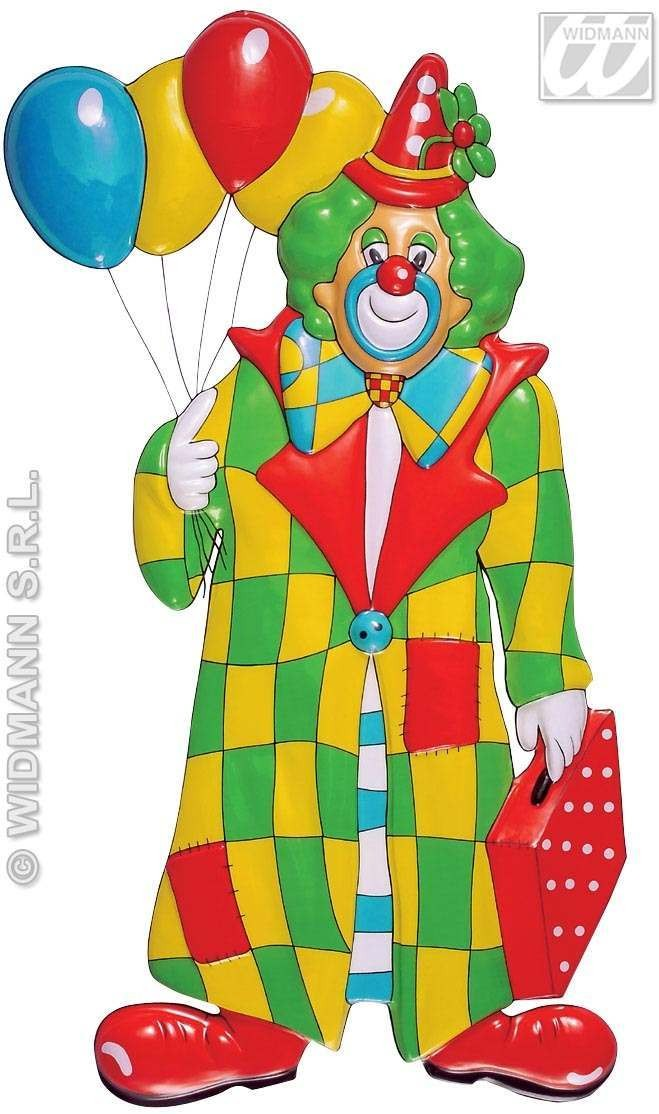 3D Clown W/Balloons Decoration - Fancy Dress (Clowns)