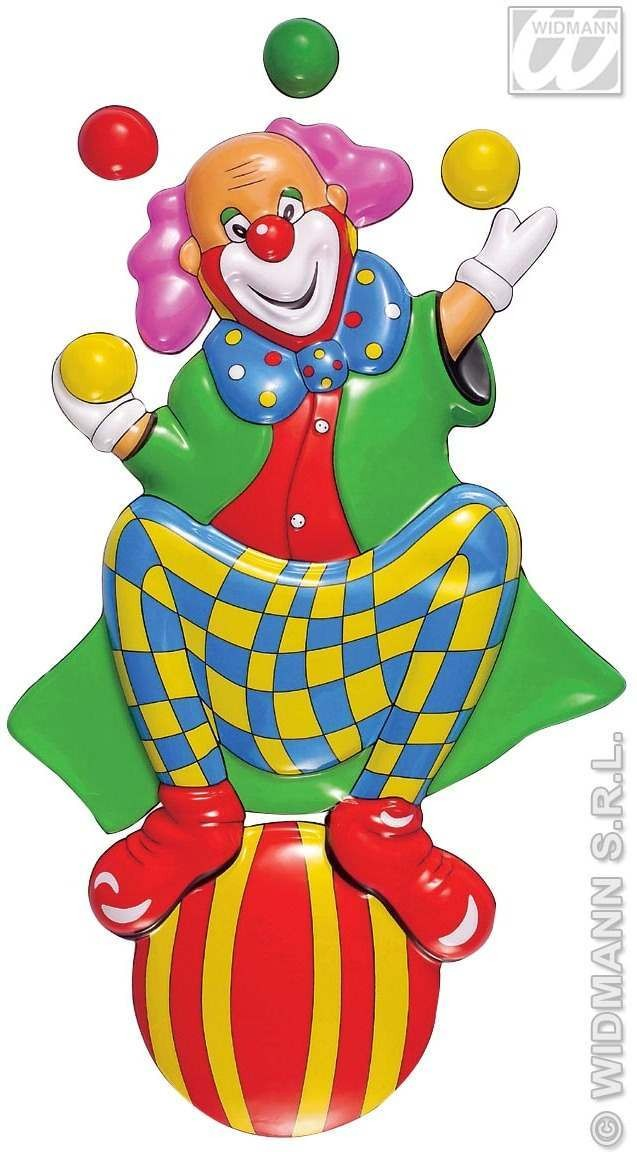 3D Clown On Ball Decoration - Fancy Dress (Clowns)