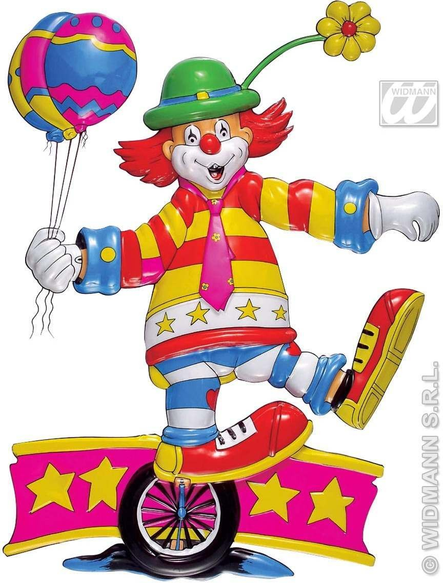 3D Clown On Wheel Decoration - Fancy Dress (Clowns)