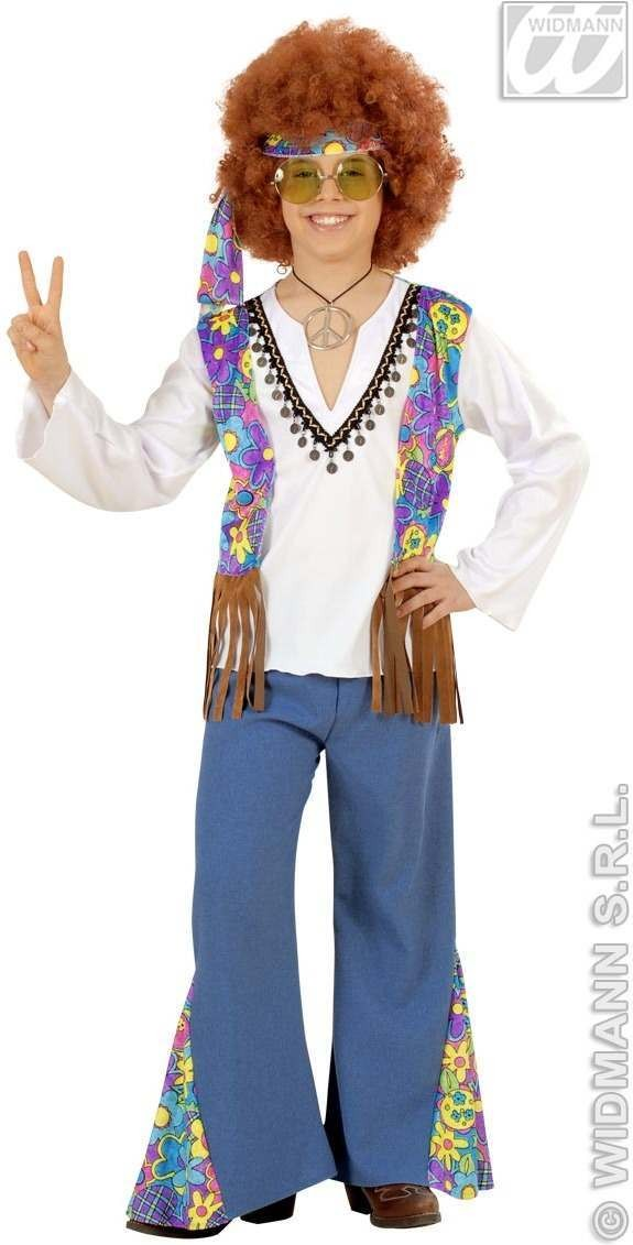 Woodstock Hippie Boy Child Fancy Dress Costume (1960S)