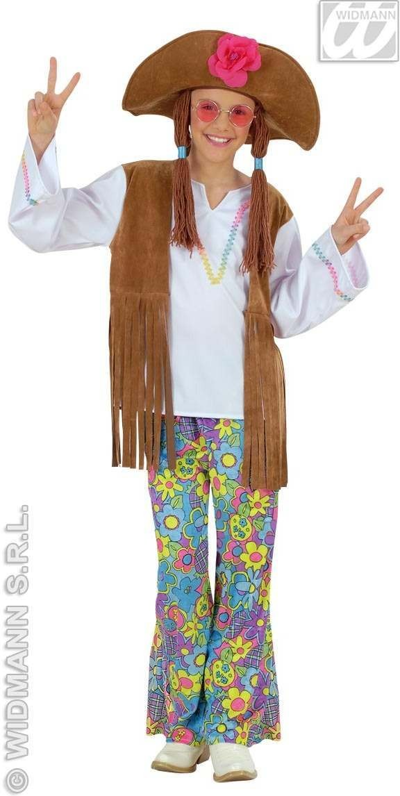 Woodstock Hippie Girl - Shirt W/Vest, Pants.. Costume (1960S)