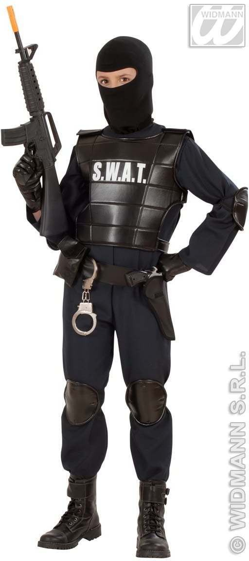 Swat Officer Child Costume Fancy Dress Costume (Cops/Robbers)