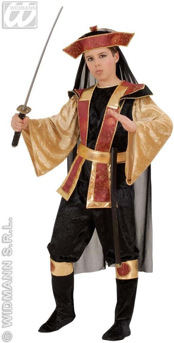 Samurai With Coat, Pants, Belt, Boot Covers Fancy Dress (Oriental)