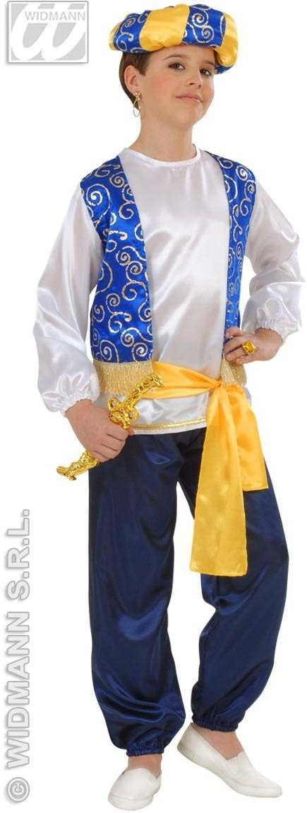 Arab Prince Child Costume 128Cm Fancy Dress Costume (Royalty)