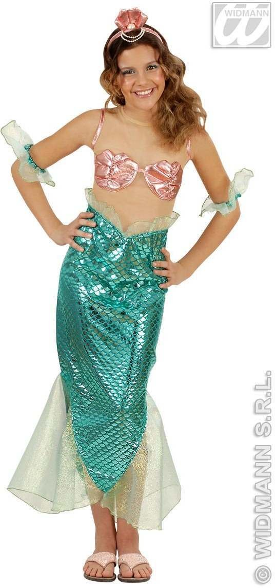 Mermaid Costume Child 8-10 Fancy Dress Costume Girls (Animals)