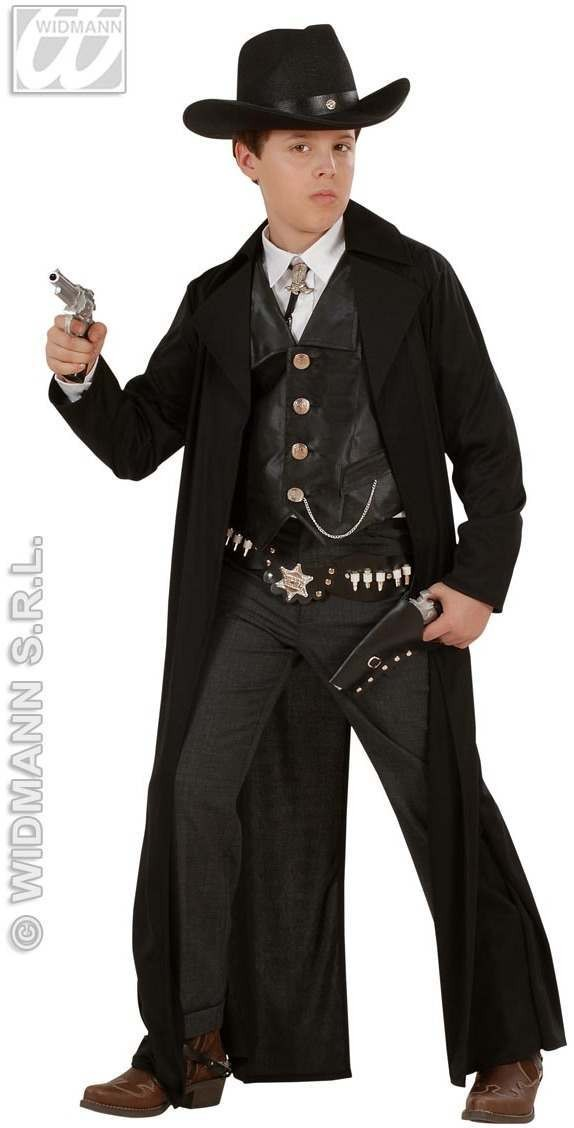 Bounty Killer With Long Coat, Vest Fancy Dress Costume (Cowboys/Native Americans)