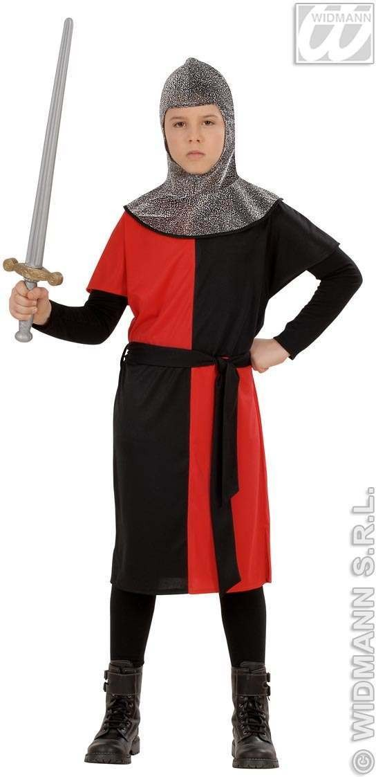 Medieval Warrior Costume Child Red 8-10 Costume Boys (Medieval)