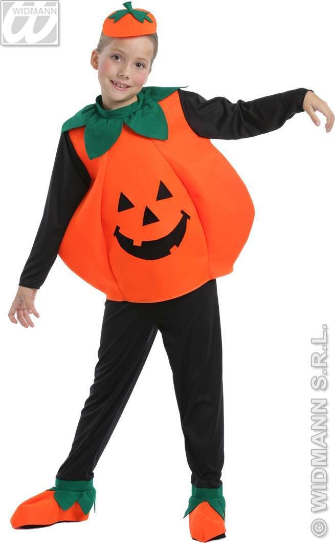 Pumpkin With 3D Coat, Pants W/Shoecovers Fancy Dress (Halloween)