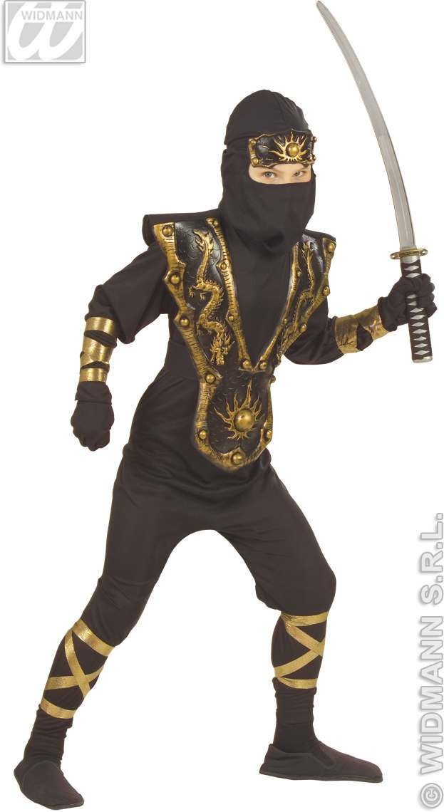Golden Dragon Ninja Costume Child Costume Boys (Animals)