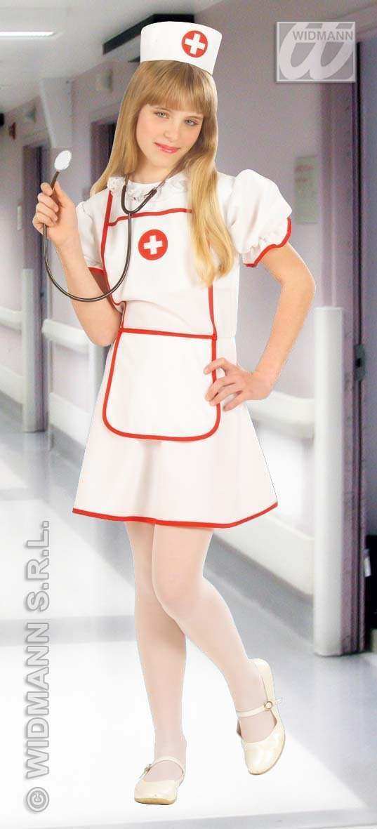 Nurse Costume Child F/Optic Heavy Fabric 8-10 Costume (Doctors/Nurses)