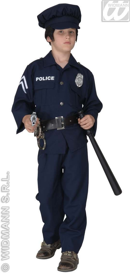 Policeman Costume F/Optic Heavy Fabric Costume (Cops/Robbers)
