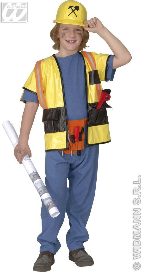 Builder Costume Kids F/Optic Heavy 11-13 Costume Boys