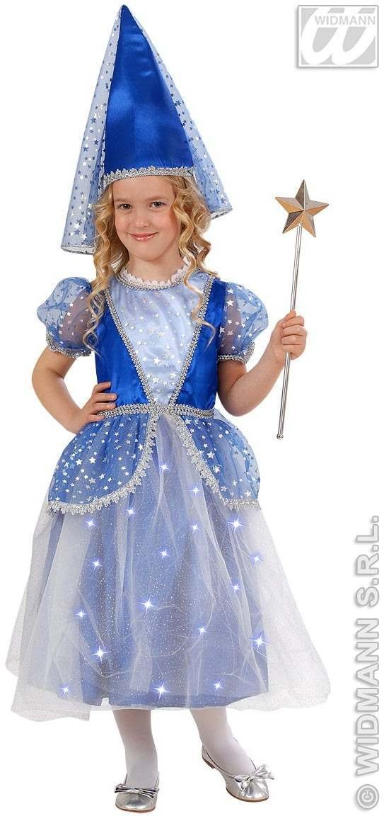 Fairy Dress+Light-Up Skirt, Hat With Veil Fancy Dress (Fairy Tales)