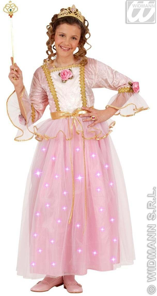 Pink Princess With Dress W/Light, Up Skirt, Fancy Dress (Royalty)
