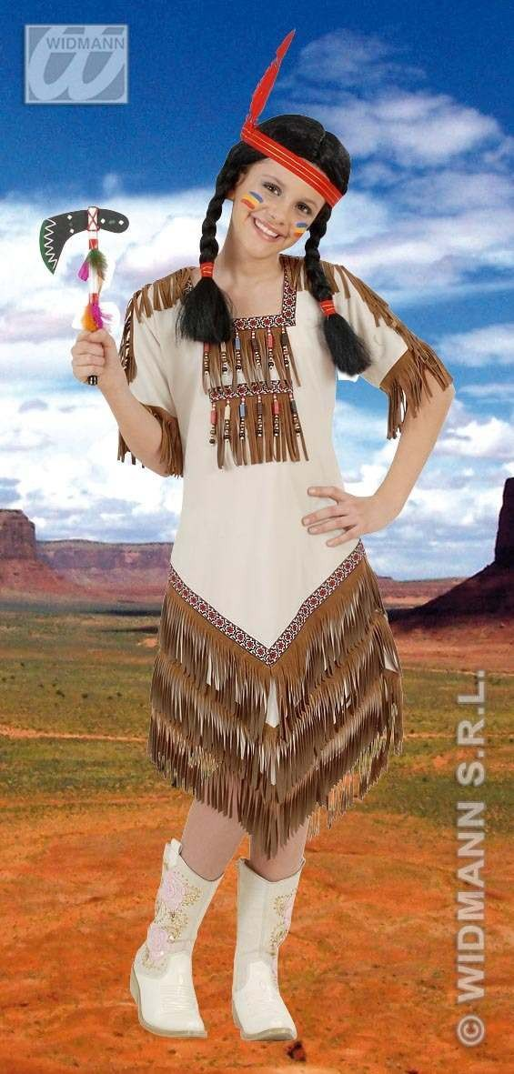 Native American Girl Costume Kids 11-13 Fancy Dress Costume (Cowboys/Native Americans)