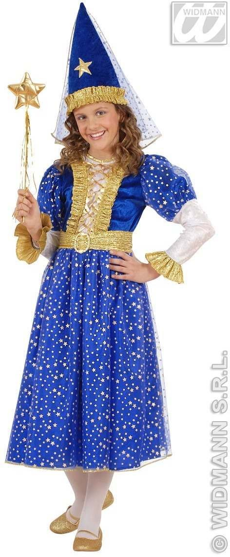 Starry Fairy With Dress, Belt, Hat W/Veil Fancy Dress (Fairy Tales)