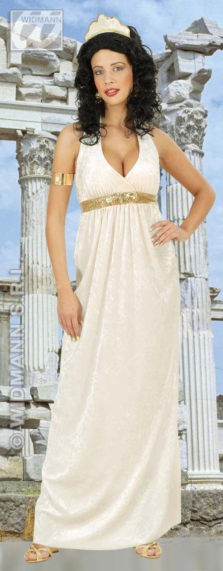 Greek Goddess Velvet Adult Fancy Dress Costume Ladies (Greek)