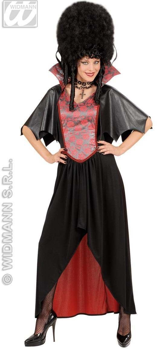 Vampiress With Dress, Capelet With Collar Fancy Dress (Halloween)