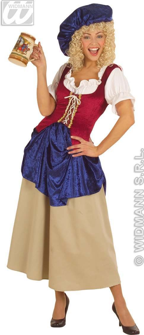 Peasant Woman Fancy Dress Costume Ladies (Old English)
