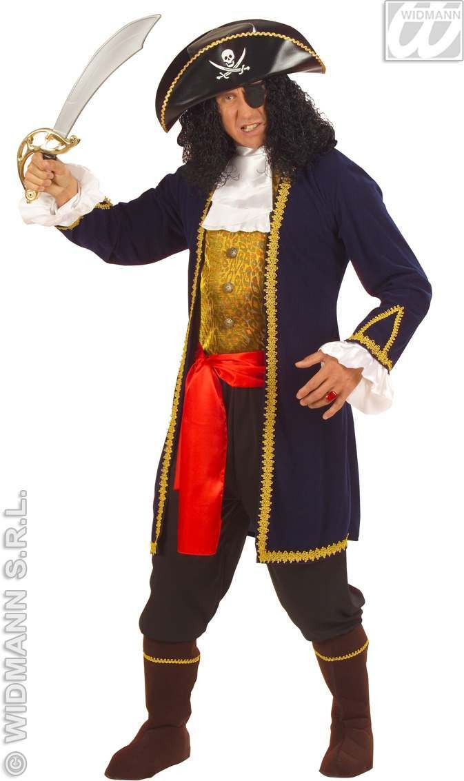 Pirate Of 7 Seas Adult Fancy Dress Costume Mens (Pirates)