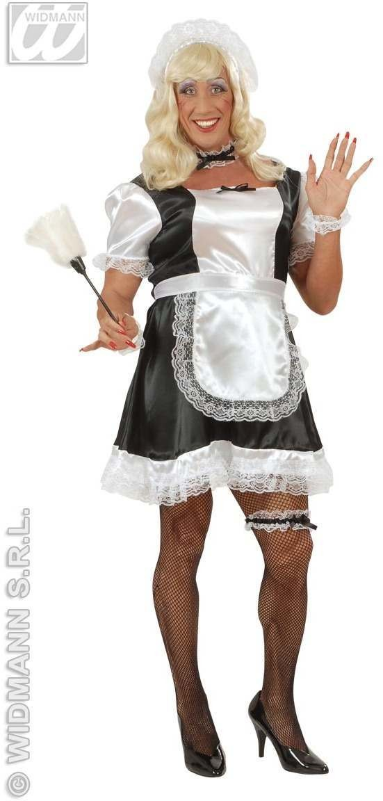 Xl Male French Maid Adult Fancy Dress Costume Mens (Drag , French)