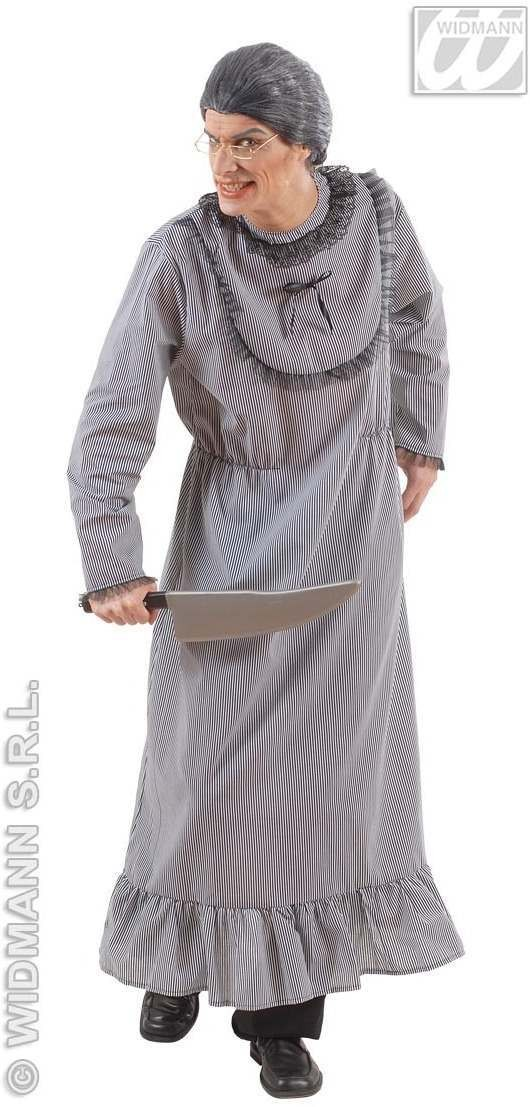 Psycho Granny With Dress Fancy Dress Costume Mens (Halloween)