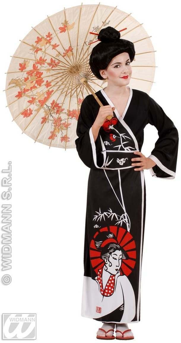 Geisha Costume Kids 11-13 Fancy Dress Costume Age 11-13 (Oriental)