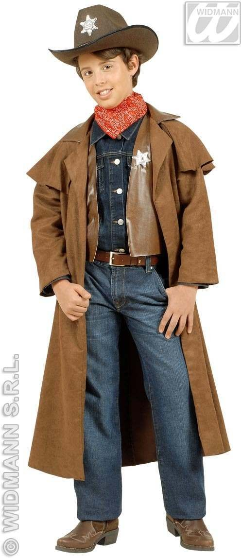 Suedelook Cowboy Child Costume 8-10 Fancy Dress Costume (Cowboys/Indians)
