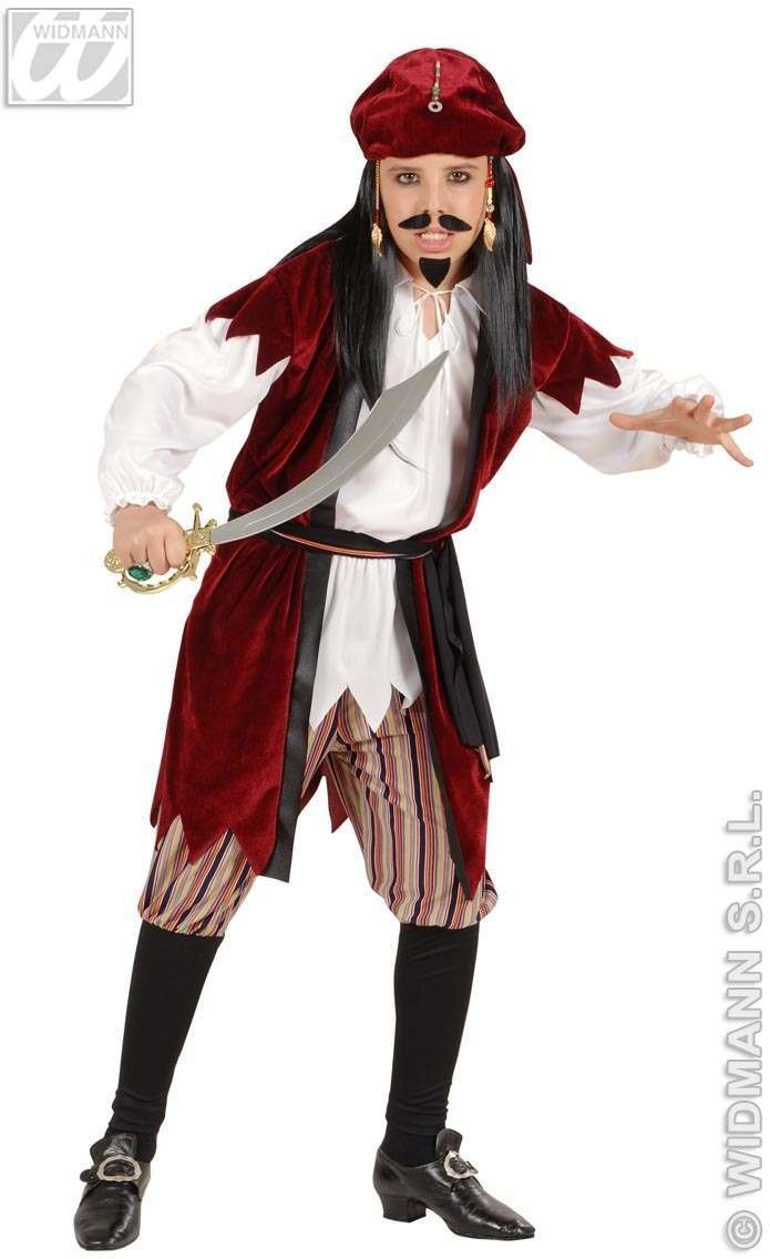 Caribbean Pirate Child Costume 5-7 Fancy Dress Costume (Pirates)