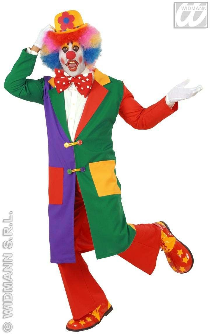 Clown With Coat Fancy Dress Costume Mens (Clowns)