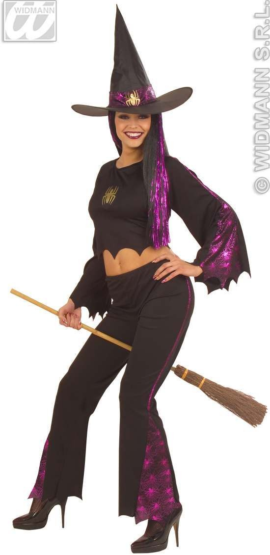 F/Optic Witch Adult Fancy Dress Costume Ladies (Halloween)