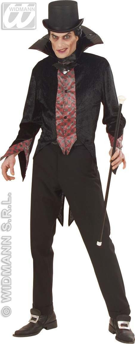 F/Optic Vampire Adult Fancy Dress Costume Mens (Halloween)