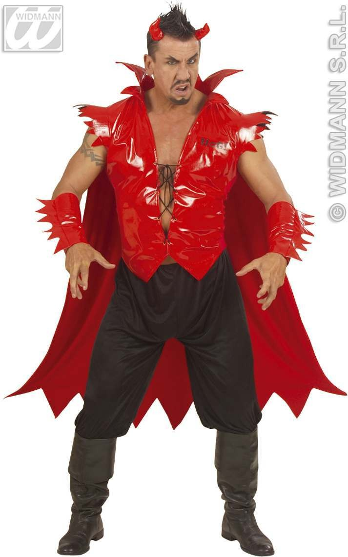 F/Optic Devil Adult Fancy Dress Costume Mens (Halloween)