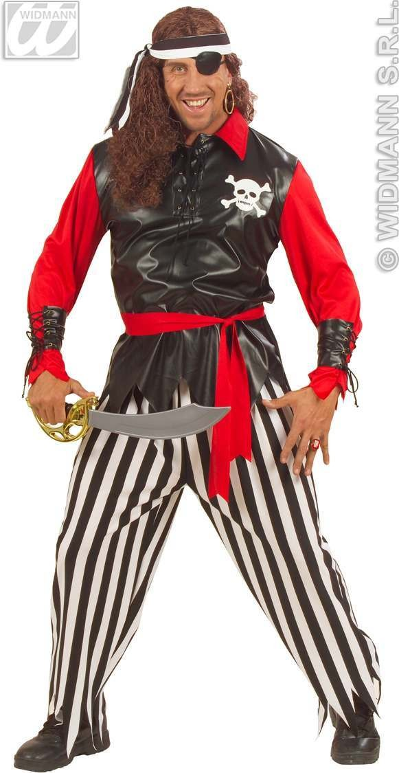 Pirate With Shirt W/Vest & Light, Up Skull, .. Costume (Pirates)