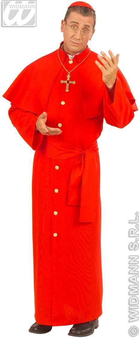 Cardinal / Inquisition Red Heavy Fabric Adult Fancy Dress Costume (Vicars/Nuns)