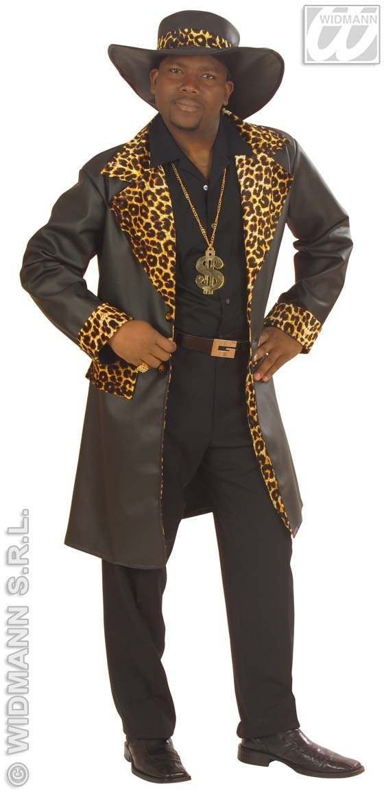 Big Pimpin Costume Adult Coat/Hat 2Cols Costume Mens (Pimp)