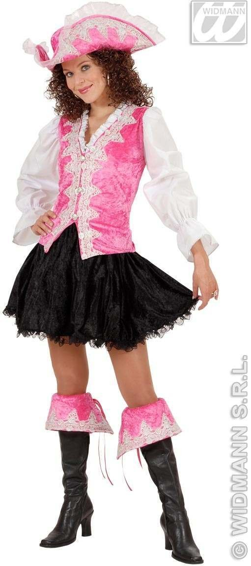 Regal Pirate Lady Velvet, Pink Fancy Dress Costume (Pirates)