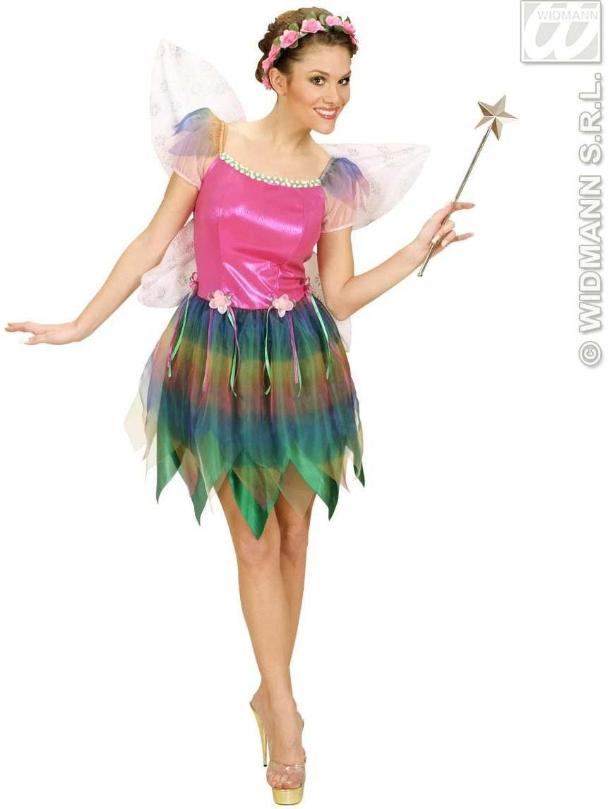 Rainbow Fairy With Dress, Wings Fancy Dress Costume (Fairy Tales)