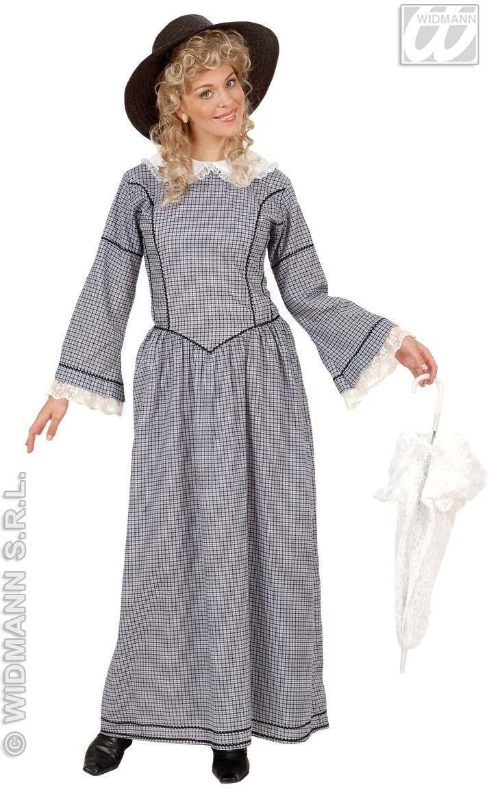 Victorian Lady Costume Adult Blk/White Costume Ladies (Old English)