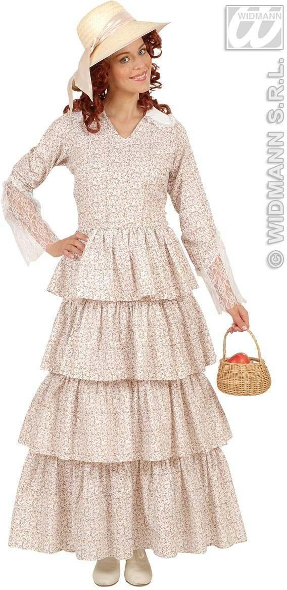 Victorian Lady Floral Fancy Dress Costume Ladies (Old English)