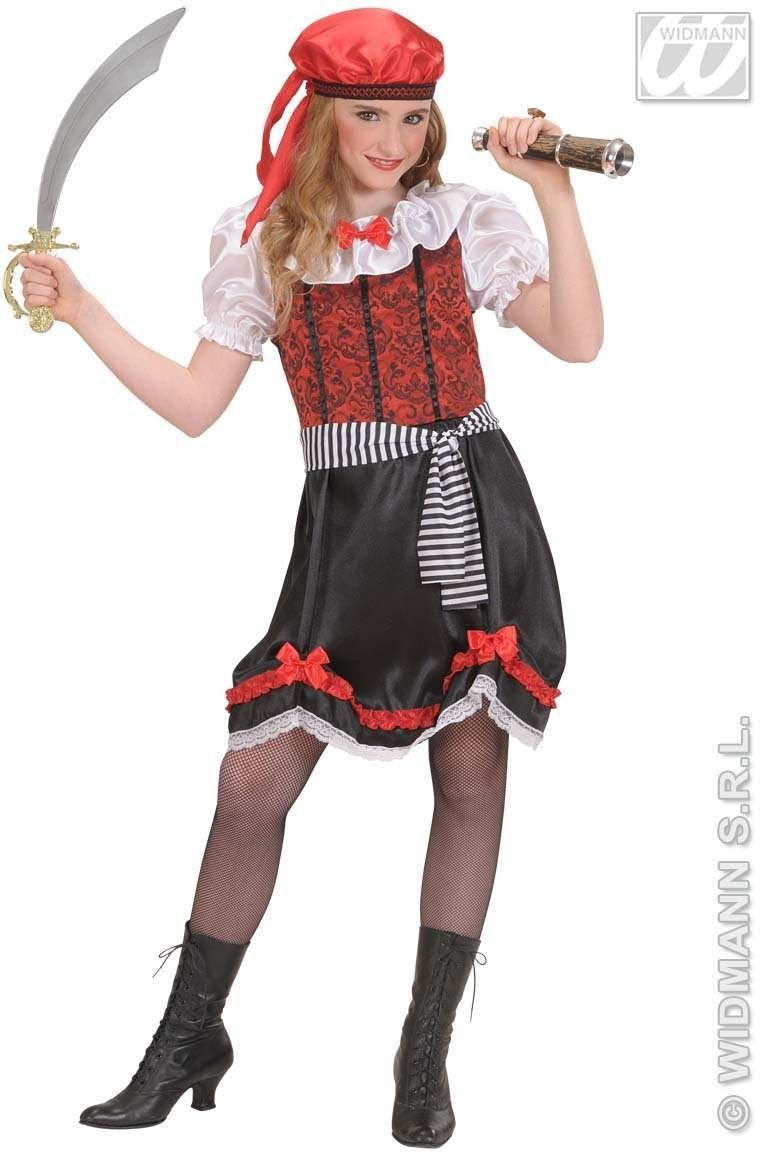 Buccaneer Girl Child Fancy Dress Costume Girls (Pirates)