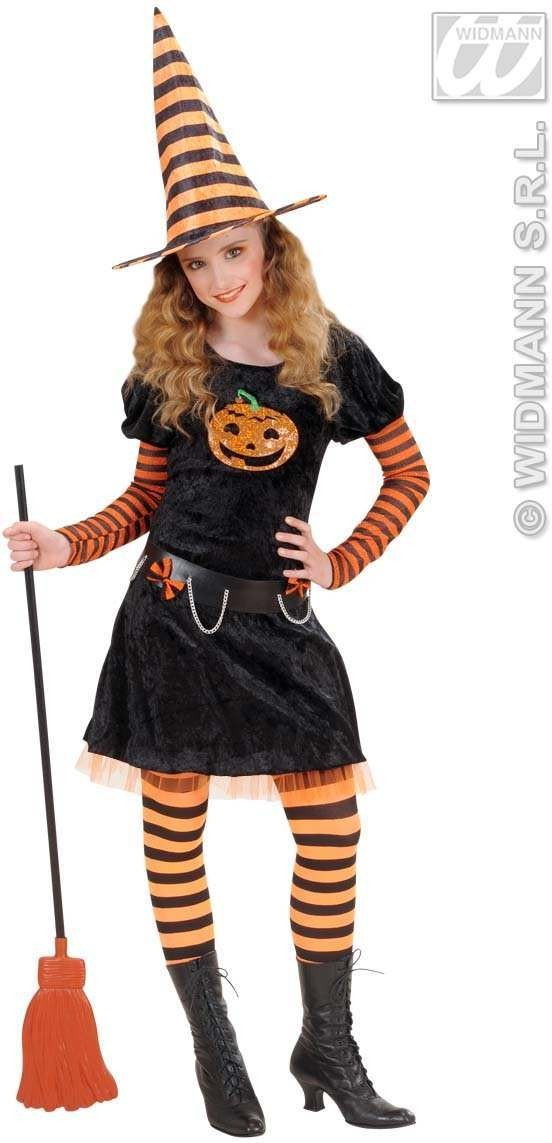 Pumpkin Witch Child  Fancy Dress Costume Girls (Halloween)