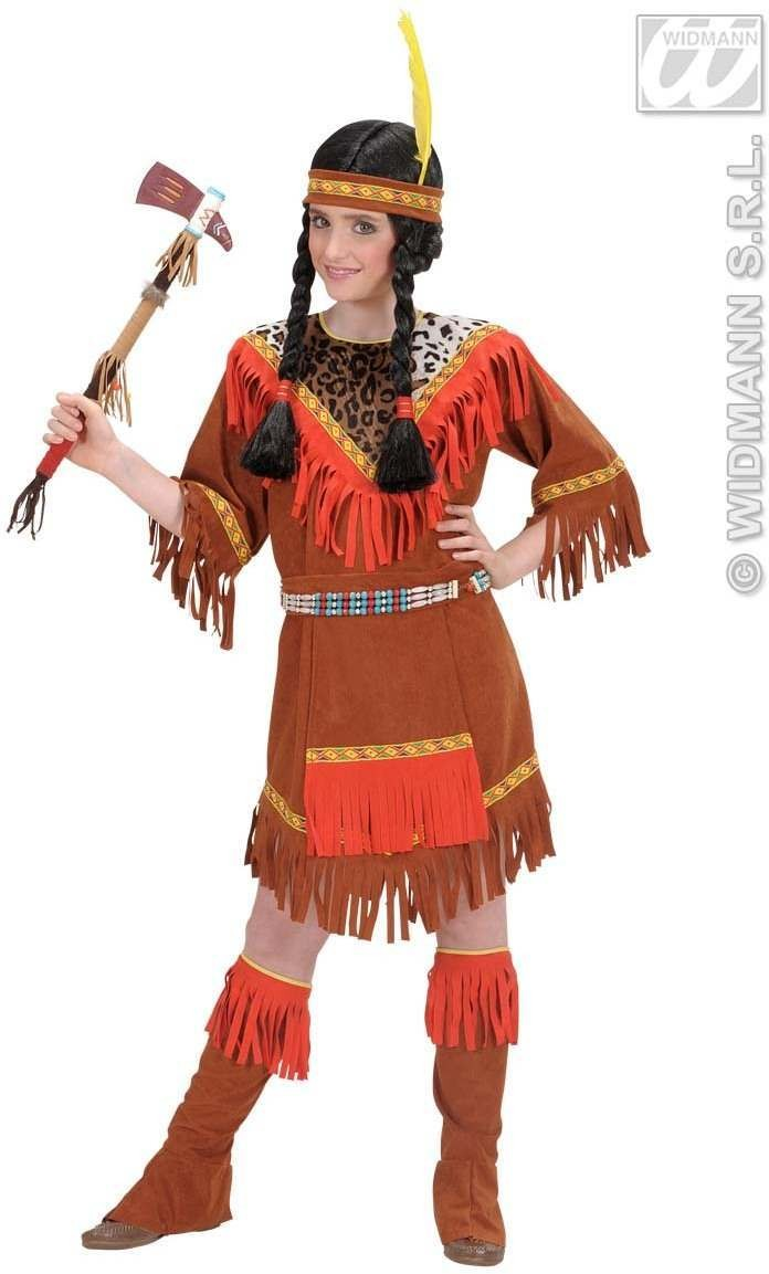 Indian Girl Child 128Cm Fancy Dress Costume Girls (Cowboys/Indians)