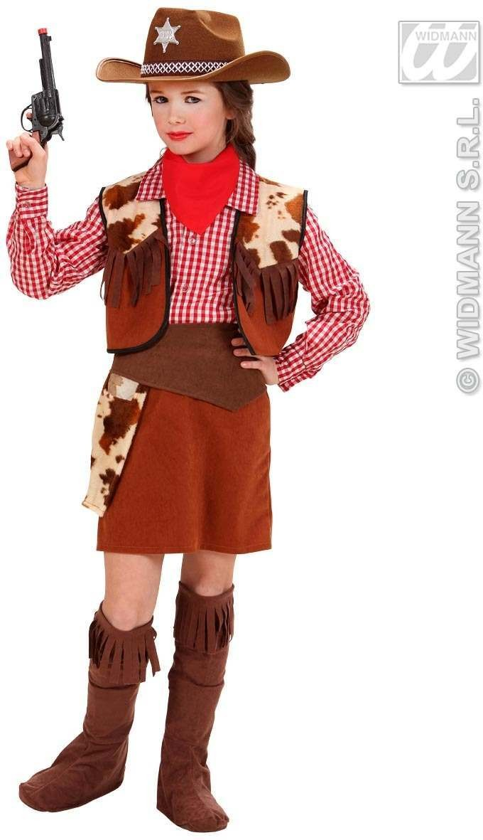 Cowgirl Fancy Dress Costume Girls (Cowboys/Indians)