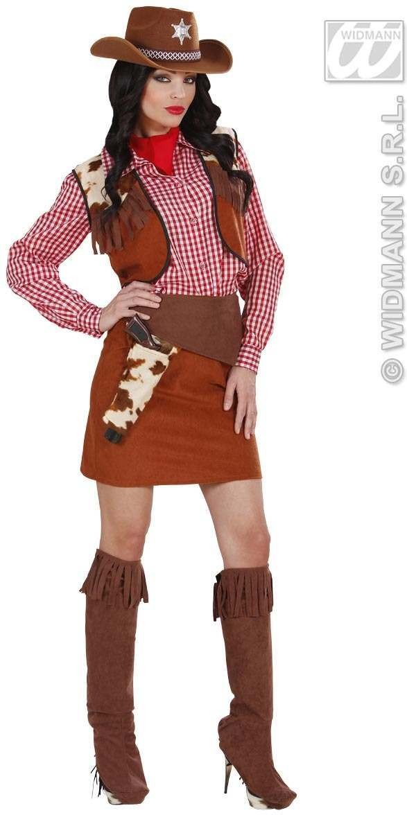 Cowgirl Fancy Dress Costume Ladies (Cowboys/Native Americans)