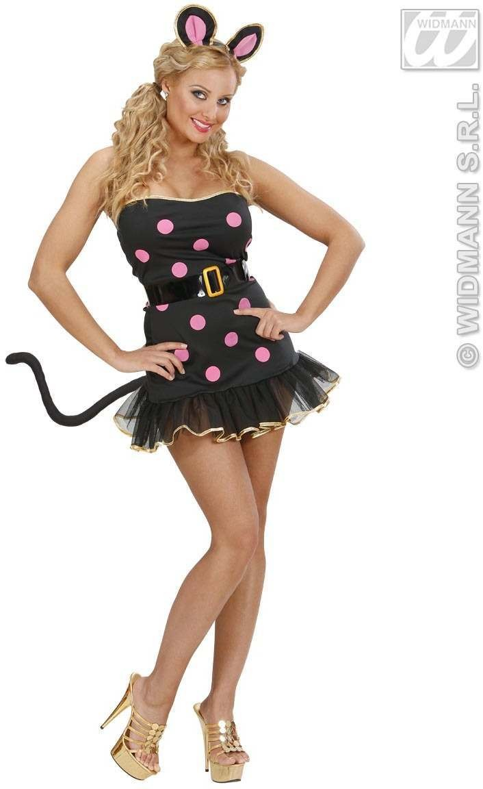 Lycra Mouse Fancy Dress Costume Ladies (Animals)