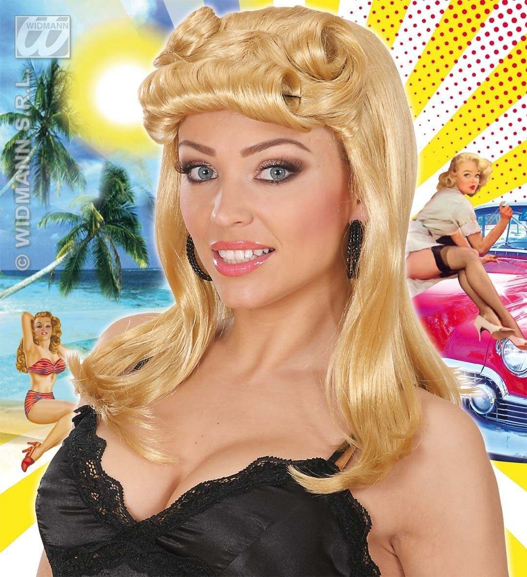 Pin Up Girl Wigs - Blonde - Fancy Dress