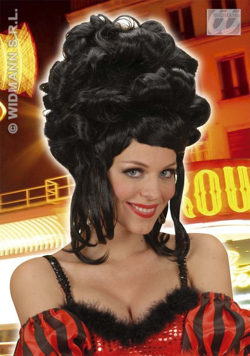 Patricia Wig High Curls Black - Fancy Dress